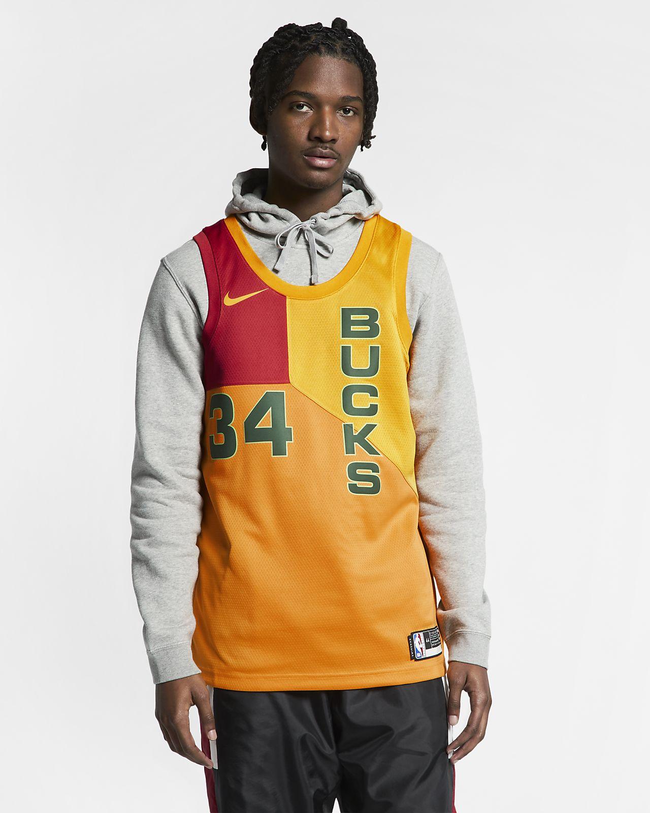 Giannis Antetokounmpo City Edition Swingman (Milwaukee Bucks) Camiseta Nike NBA Connected - Hombre