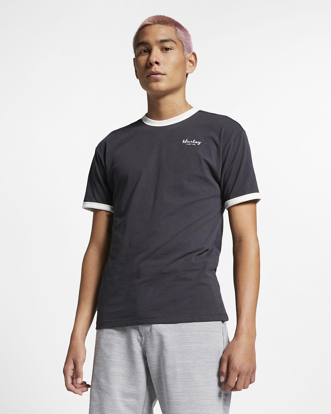 Kortärmad tröja Hurley Dri-FIT Harvey Ringer för män