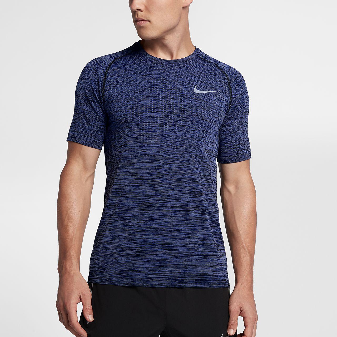 buy popular 6ebd8 68d5b Haut de running 脿 manches courtes Nike Dri FIT Knit pour Homme