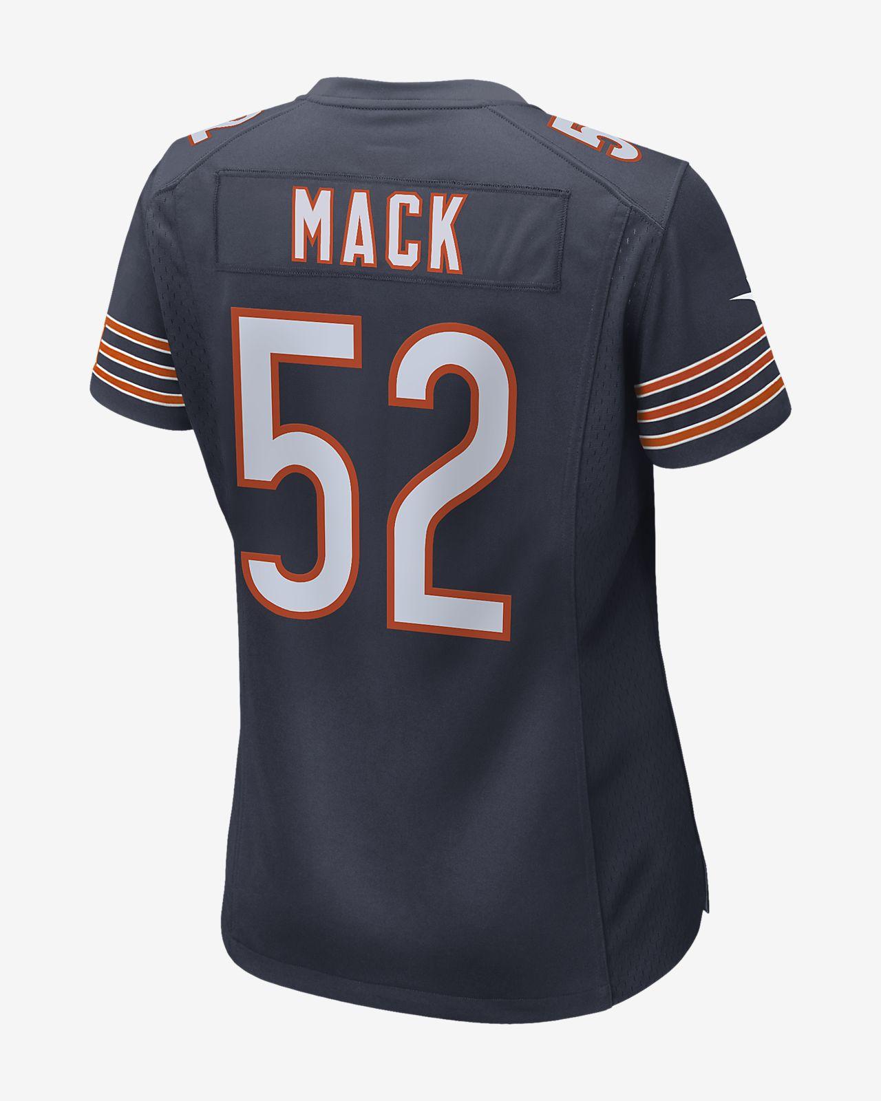 best service 87e63 283a4 NFL Chicago Bears (Khalil Mack) Women's Game Football Jersey