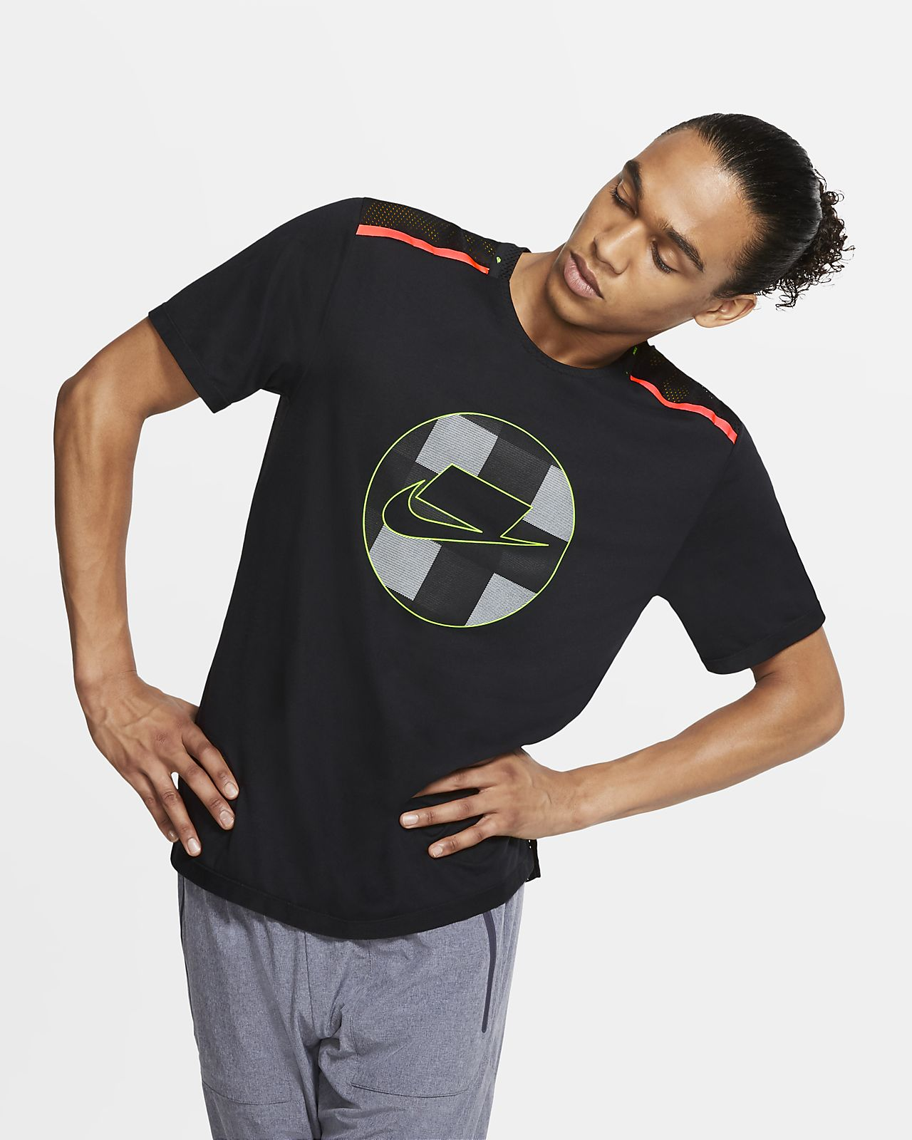 Maglia da running a manica corta in mesh Nike Wild Run - Uomo