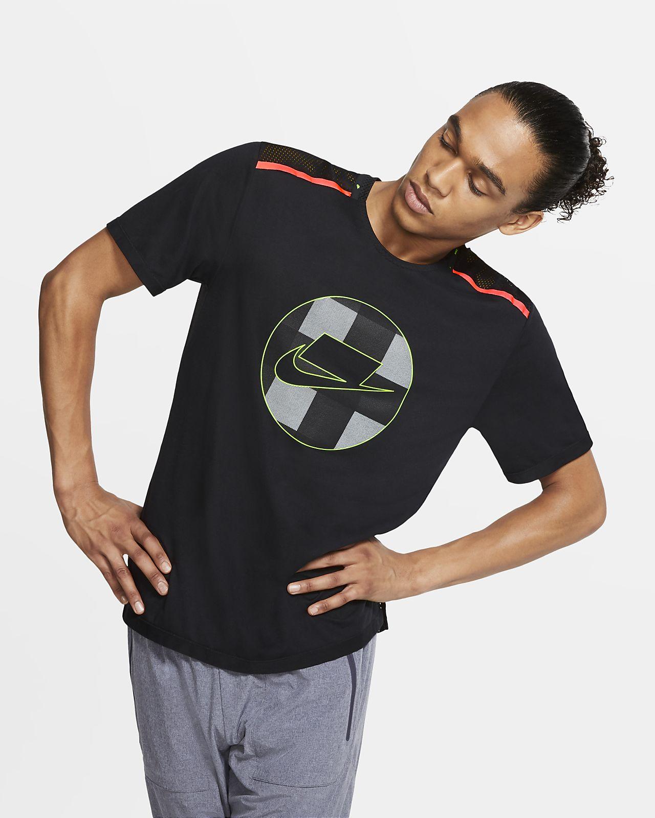 Prenda para la parte superior de running de malla de manga corta para hombre Nike Wild Run