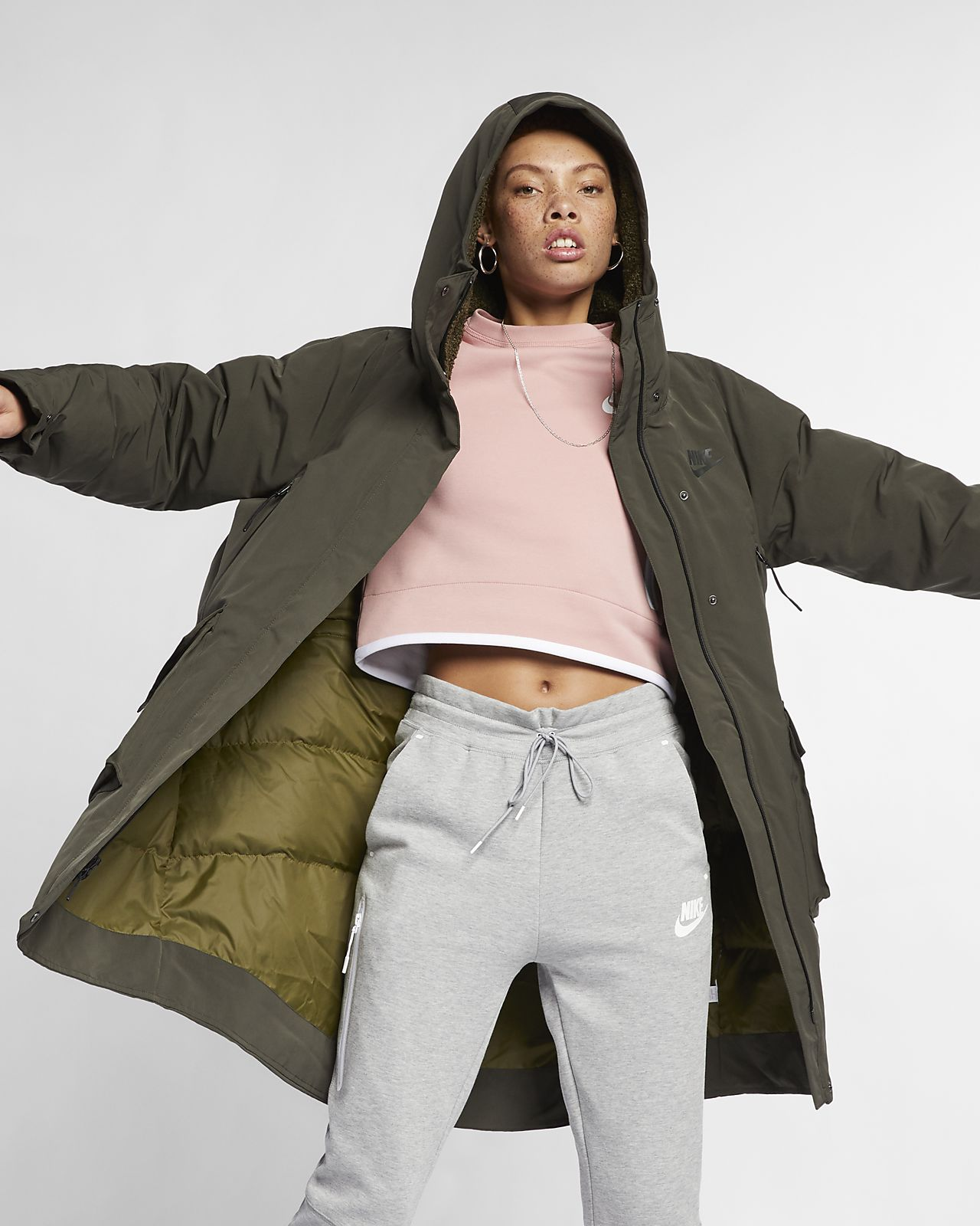 Fill Down Femme Tech Sportswear Be Pour Nike Parka Pack wq14HxRpX