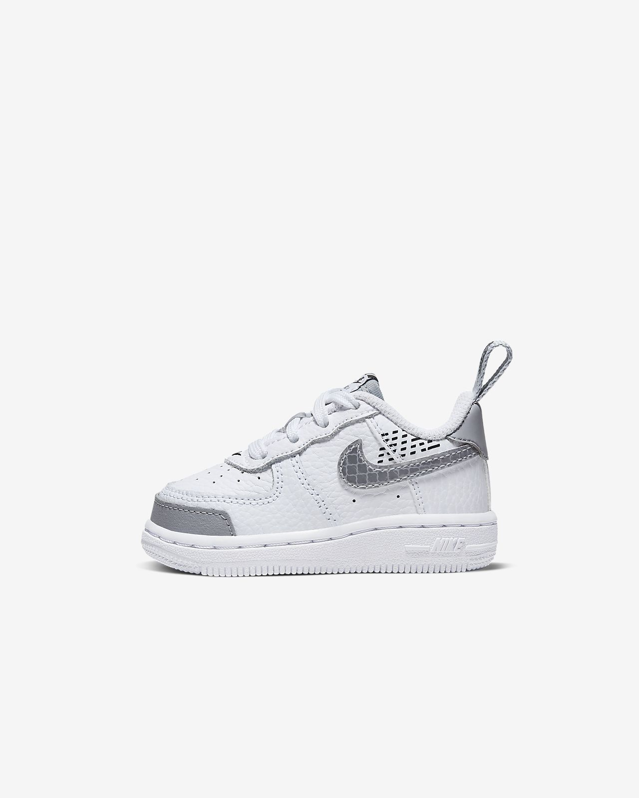 Nike Shoes Juniors Air Force 1 LV8 2 White Wolf Grey Black