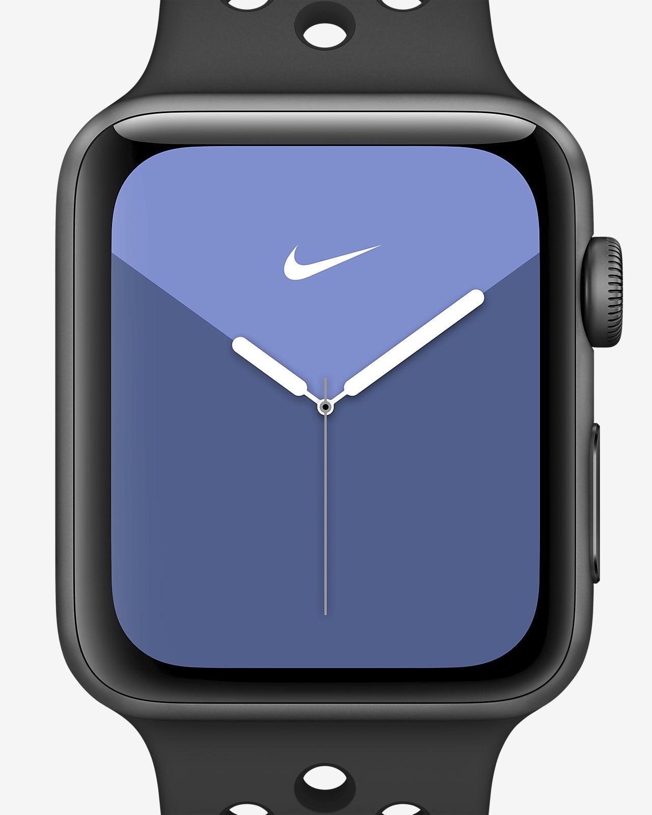 Apple Watch Nike Series 3(GPS + 蜂窝网络)搭配 Nike Sport Band 42 毫米深空灰色铝金属表壳