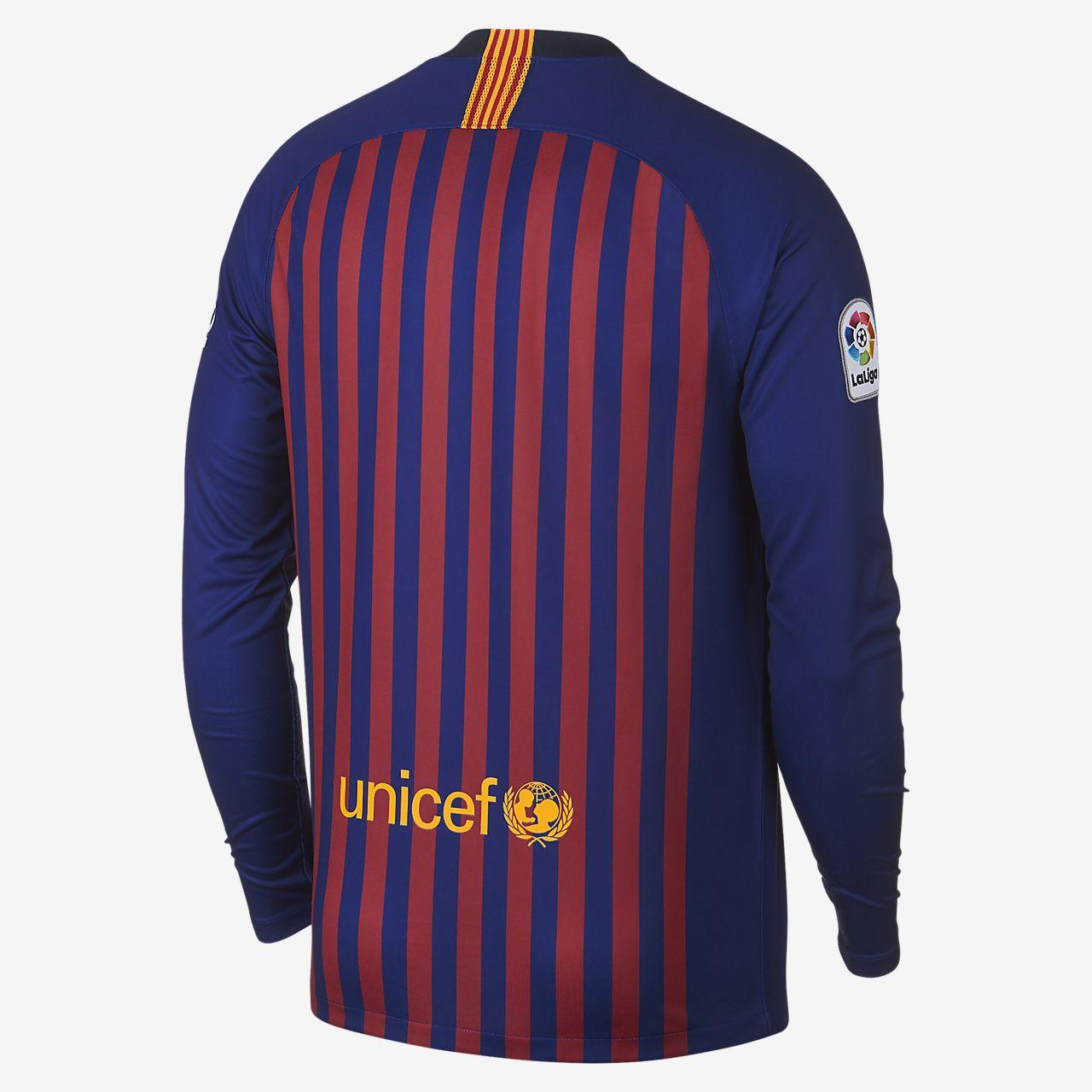 65425200ca3 ... 2018/19 FC Barcelona Stadium Home Men's Long-Sleeve Football Shirt
