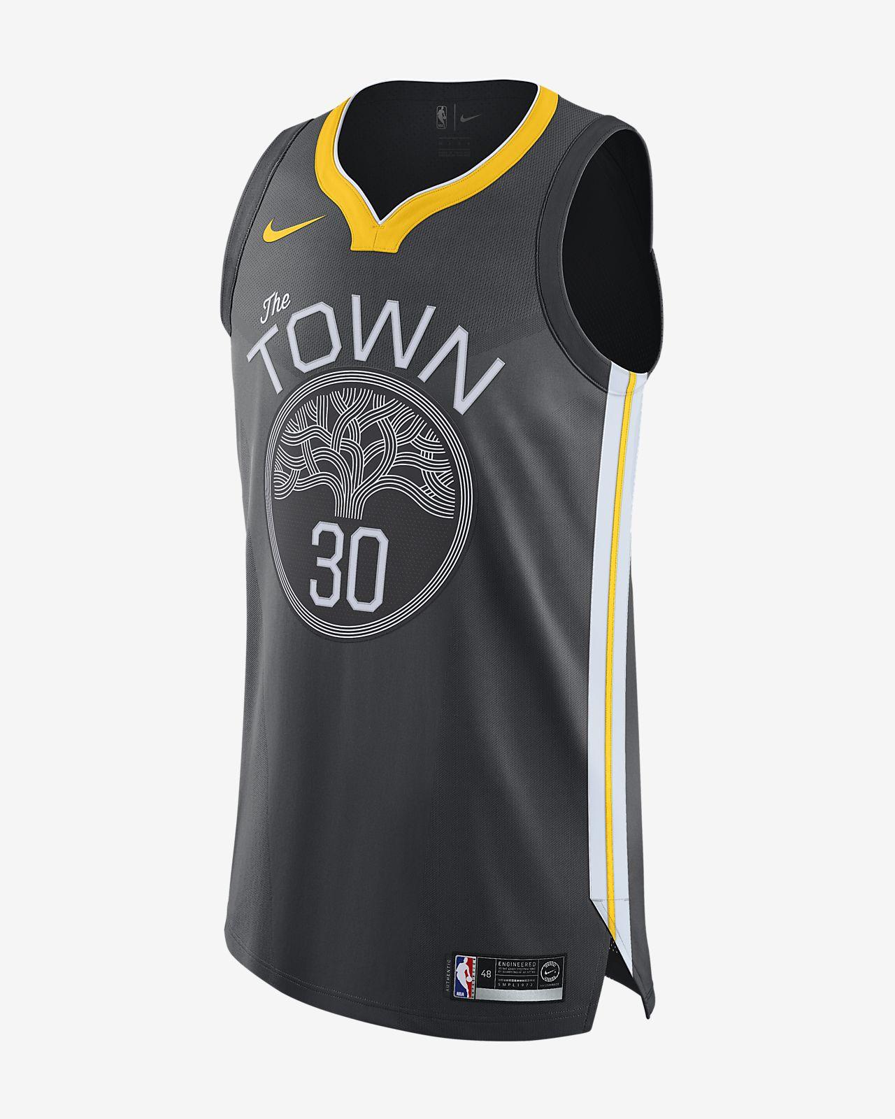 Stephen Curry Statement Edition Authentic (Golden State Warriors) tilkoblet Nike NBA-drakt til herre