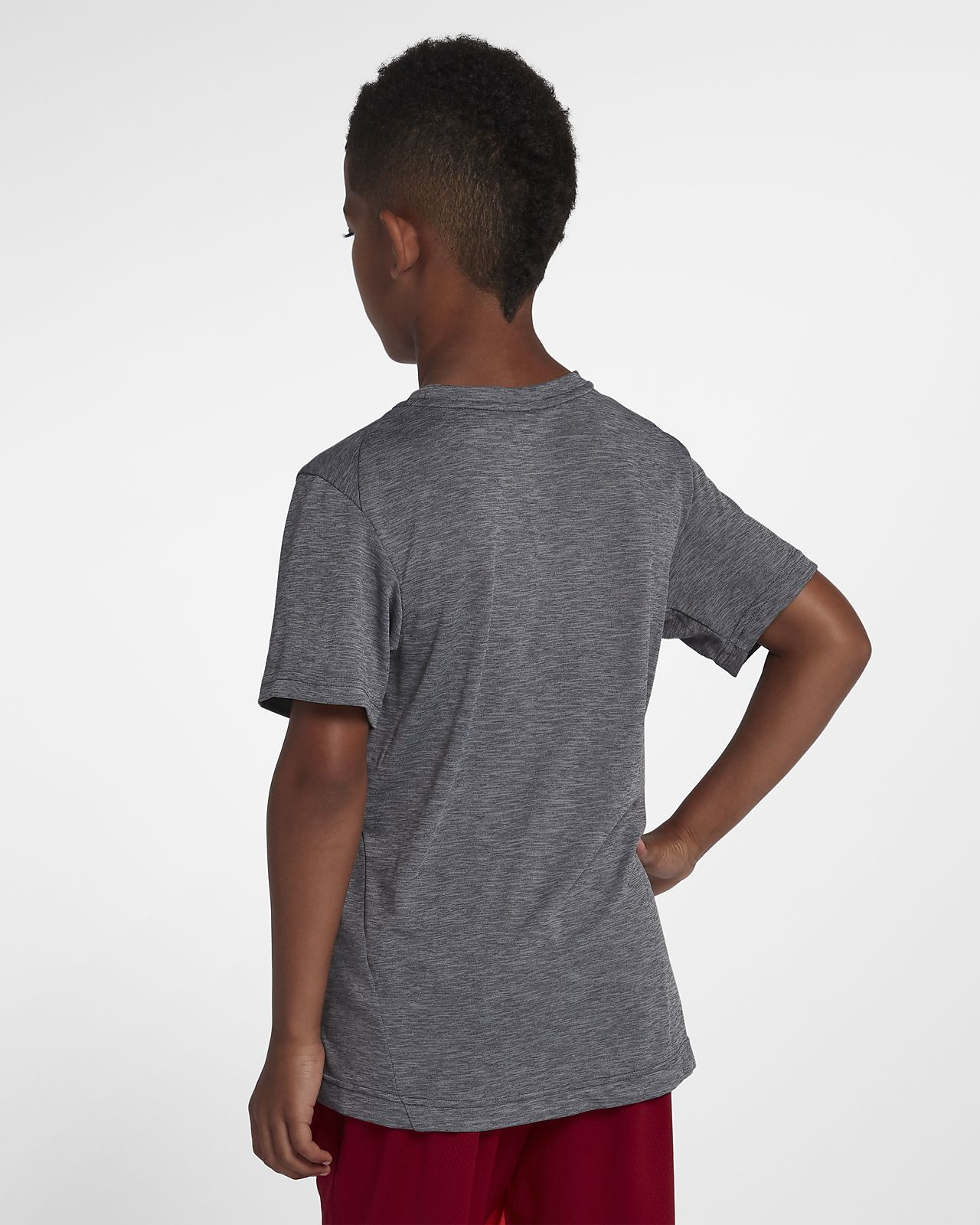 the latest 817a0 bff4c ... Nike Dri-FIT Breathe Big Kids  (Boys ) Short Sleeve Training Top