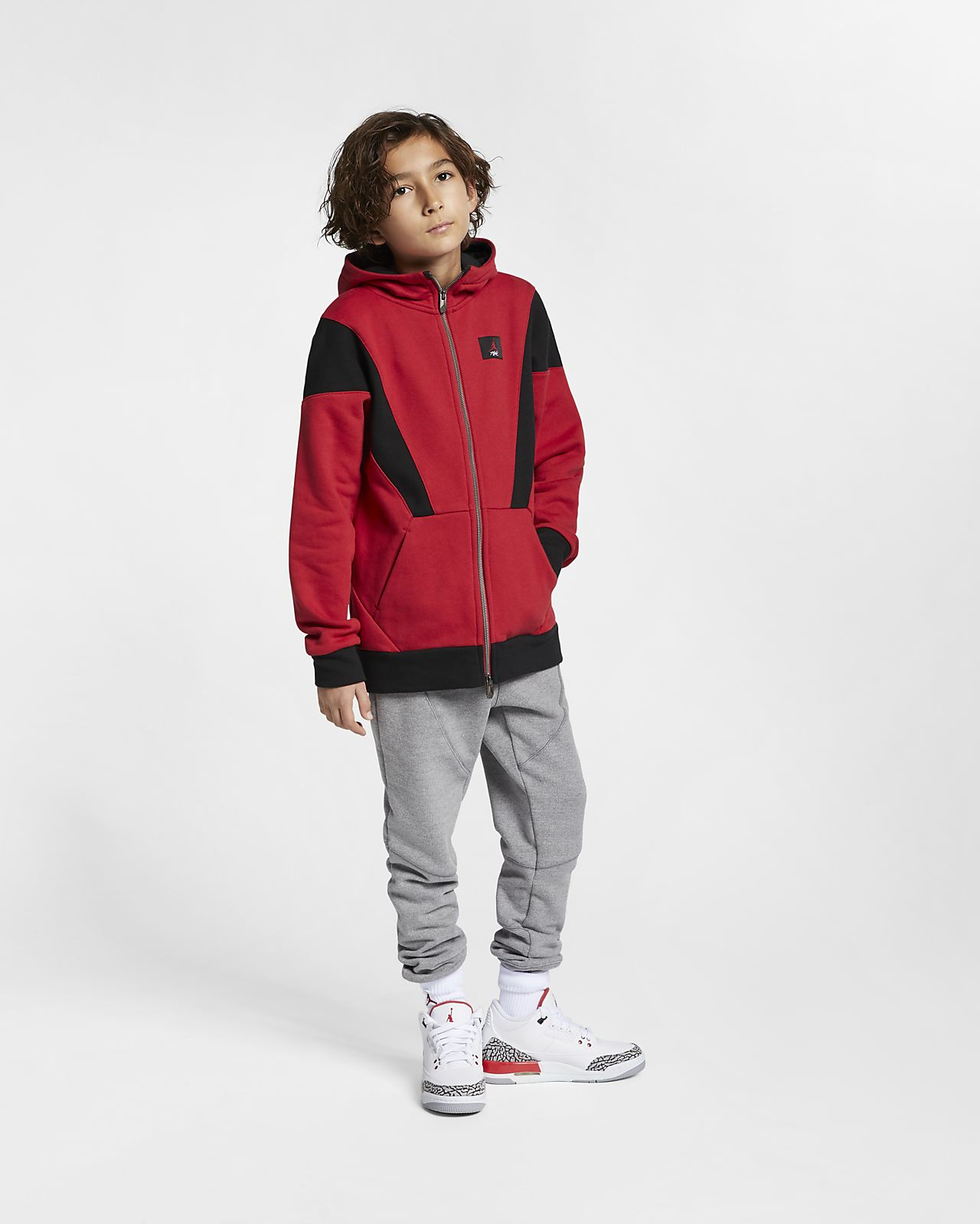 6fdb88ff9 Jordan Flight Lite Older Kids' (Boys') Full-Zip Hoodie. Nike.com GB