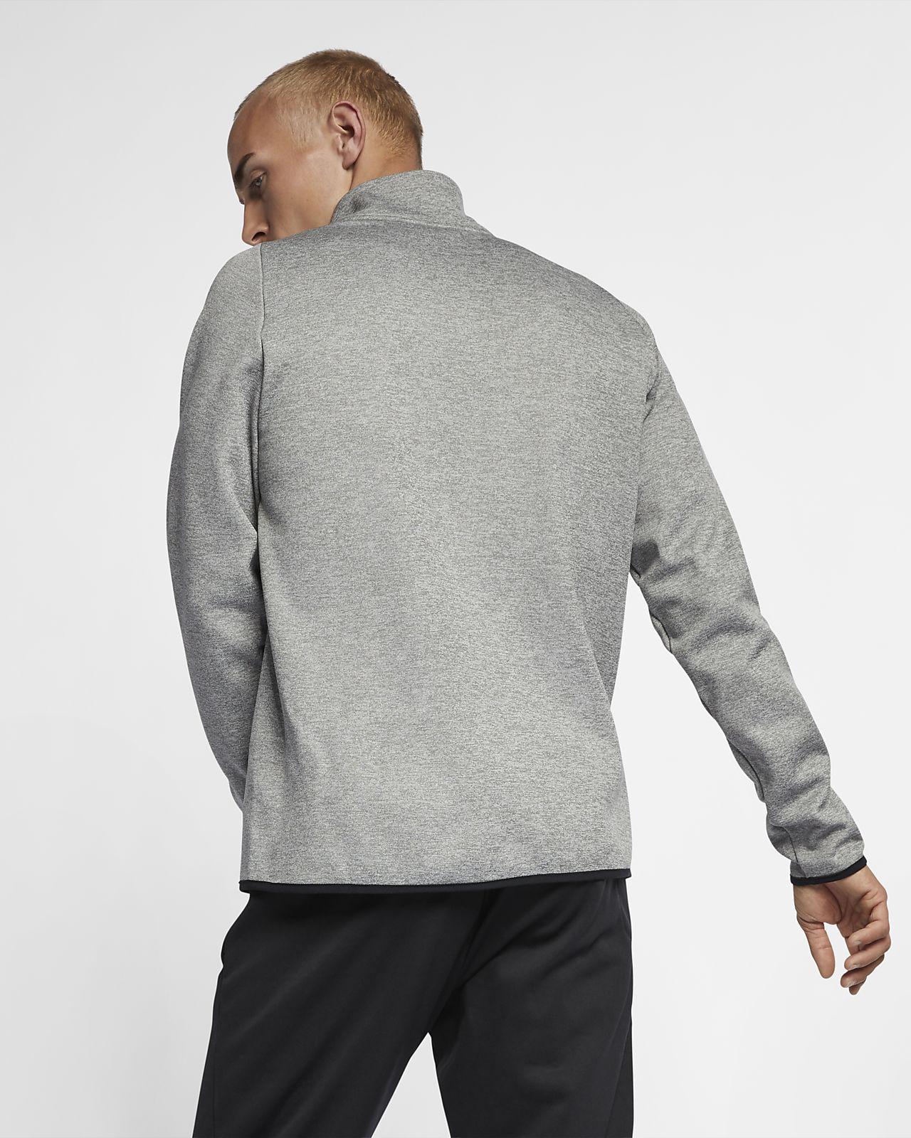 Quality Soft Fabric Heather Grey Quarter Zip Sweat Jacket Size  XS to XXXL