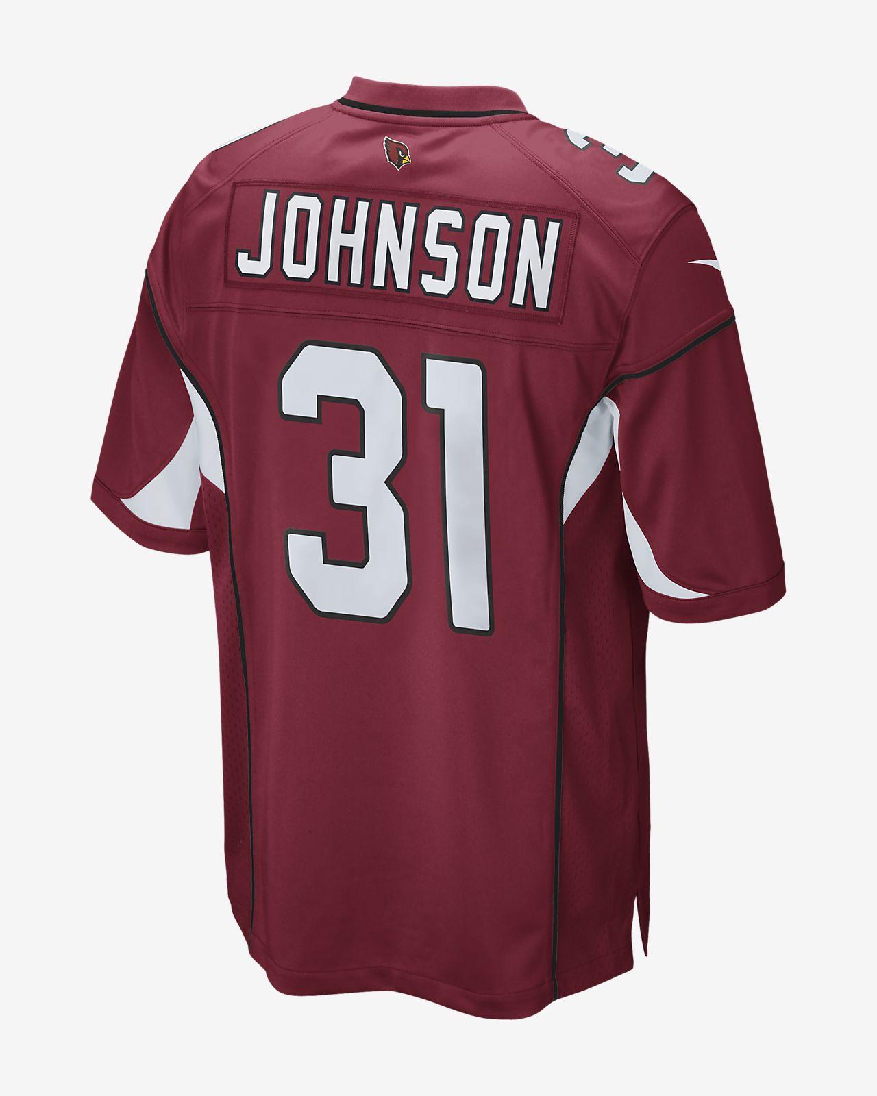 0999c8af4 ... Camisola de jogo de futebol americano NFL Arizona Cardinals (David  Johnson) para homem