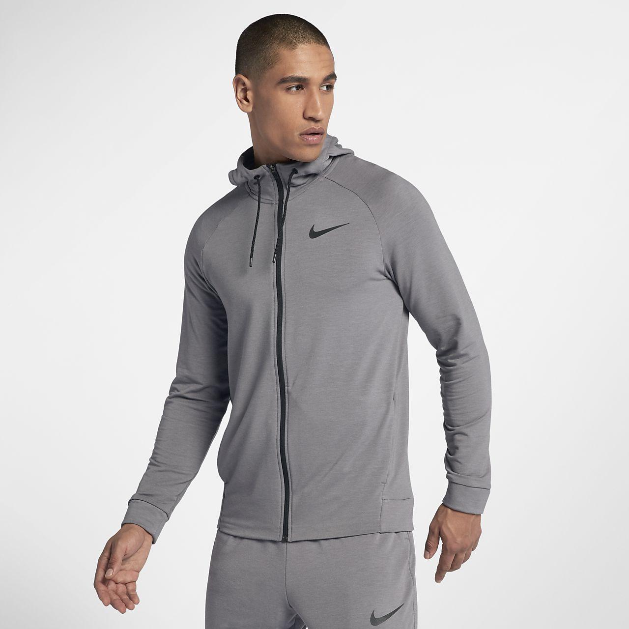 Nike Dri-FIT hosszú cipzáras, kapucnis férfi edzőpulóver