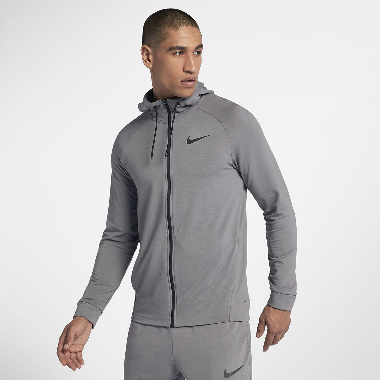 Träningshuvtröja med hel dragkedja Nike Dri-FIT för män