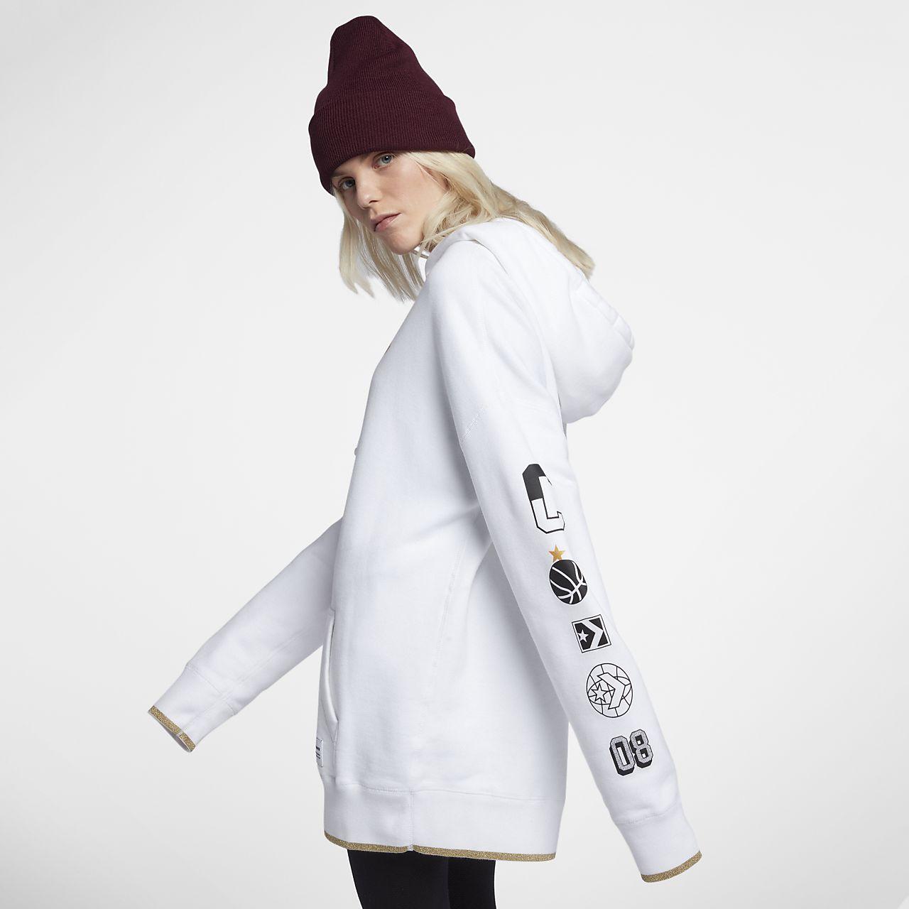 ... Converse Essentials Metallic Star Chevron Oversized Pullover Women's  Hoodie
