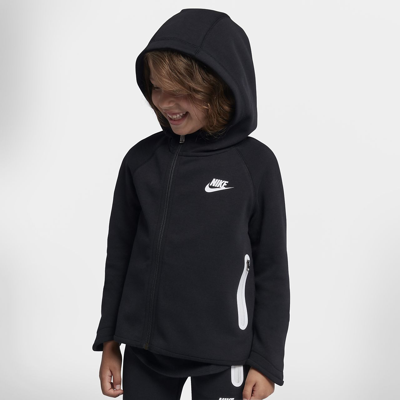 wide range high fashion top quality Nike Sportswear Tech Fleece Younger Kids' Full-Zip Hoodie