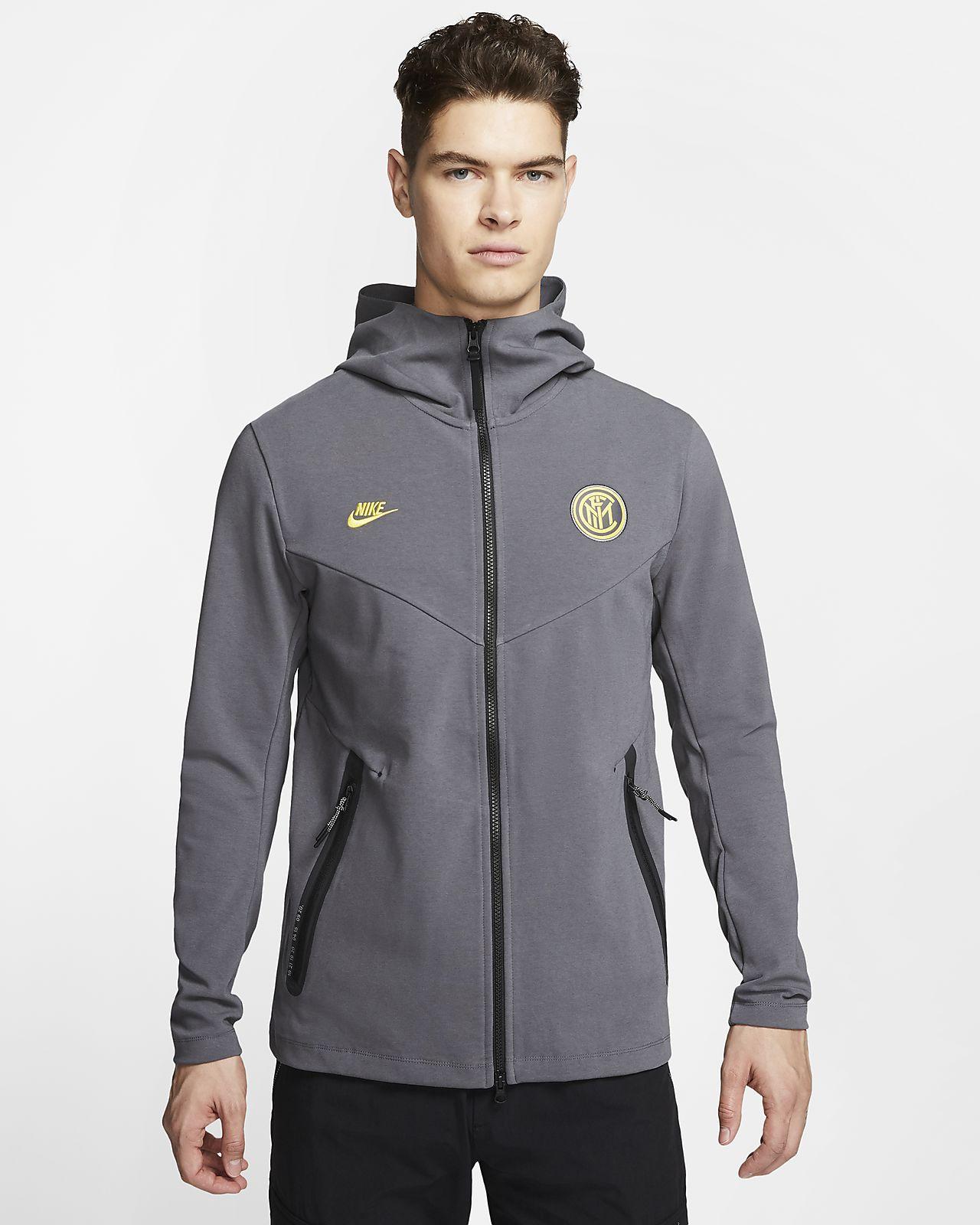 Sweat à capuche à zip intégral Inter Milan Tech Pack pour Homme