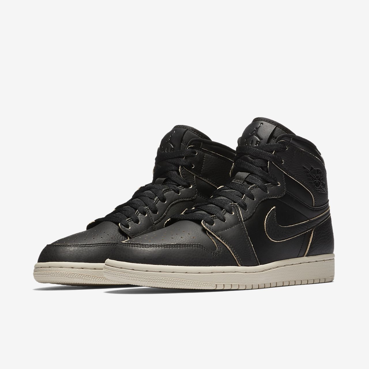 Jordan 1 Rétro Chaussures Haut De Gamme Noir r2PUa