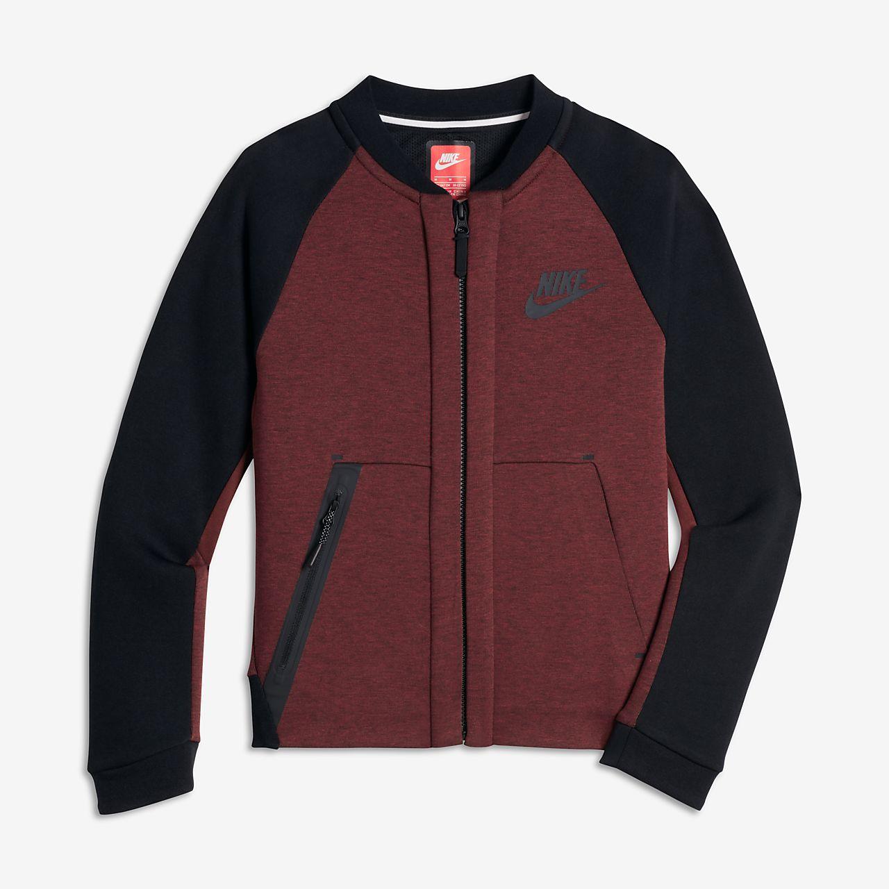 ... Chaqueta para niños talla grande Nike Sportswear Tech Fleece Bomber