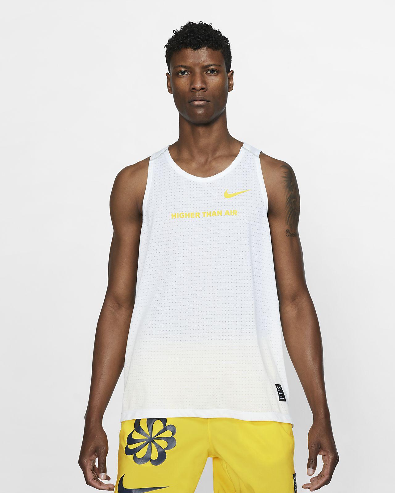 Pánské běžecké tílko sgrafickým motivem Nike Rise 365