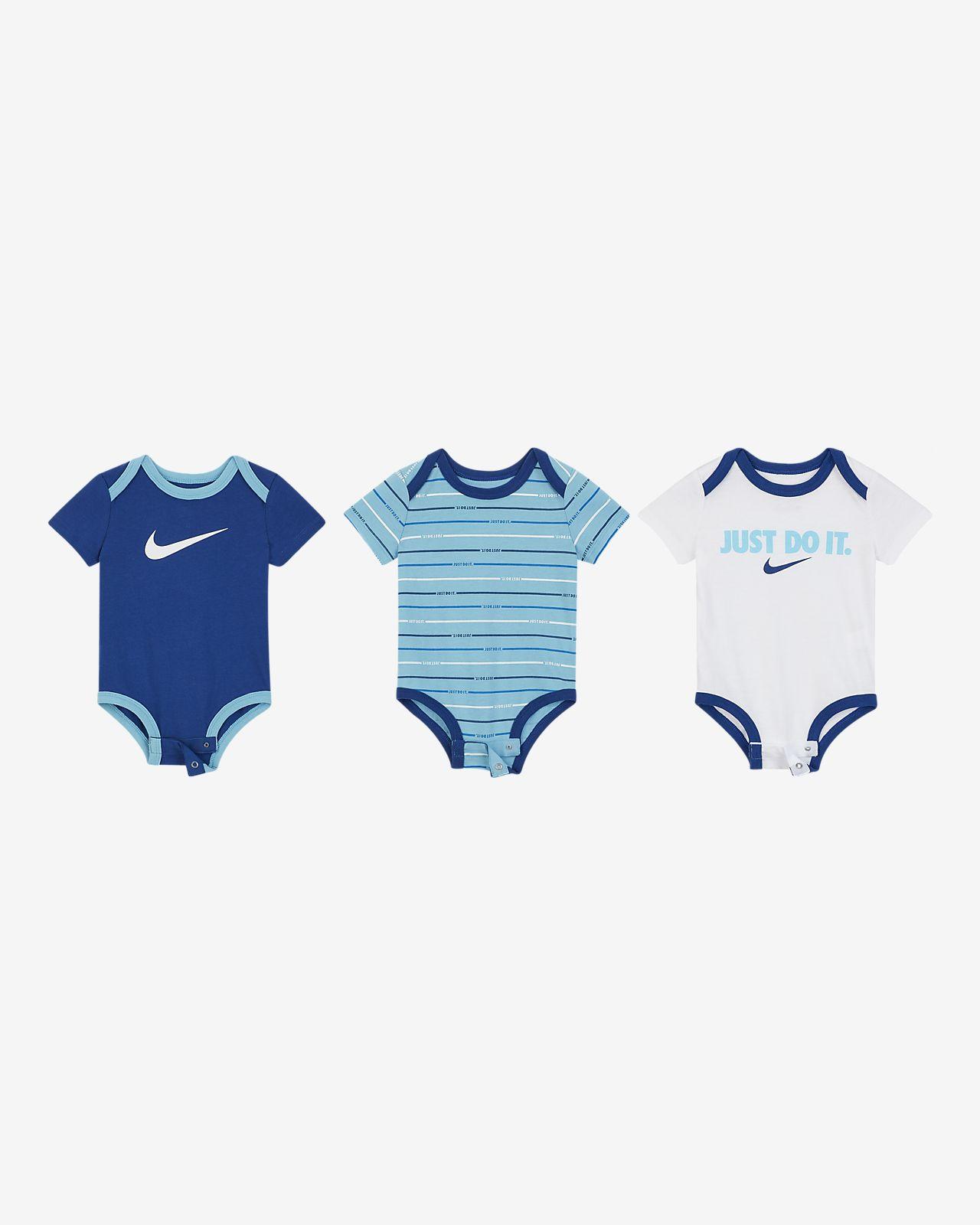 Nike Baby (0–9M) Bodysuit (3-Pack)