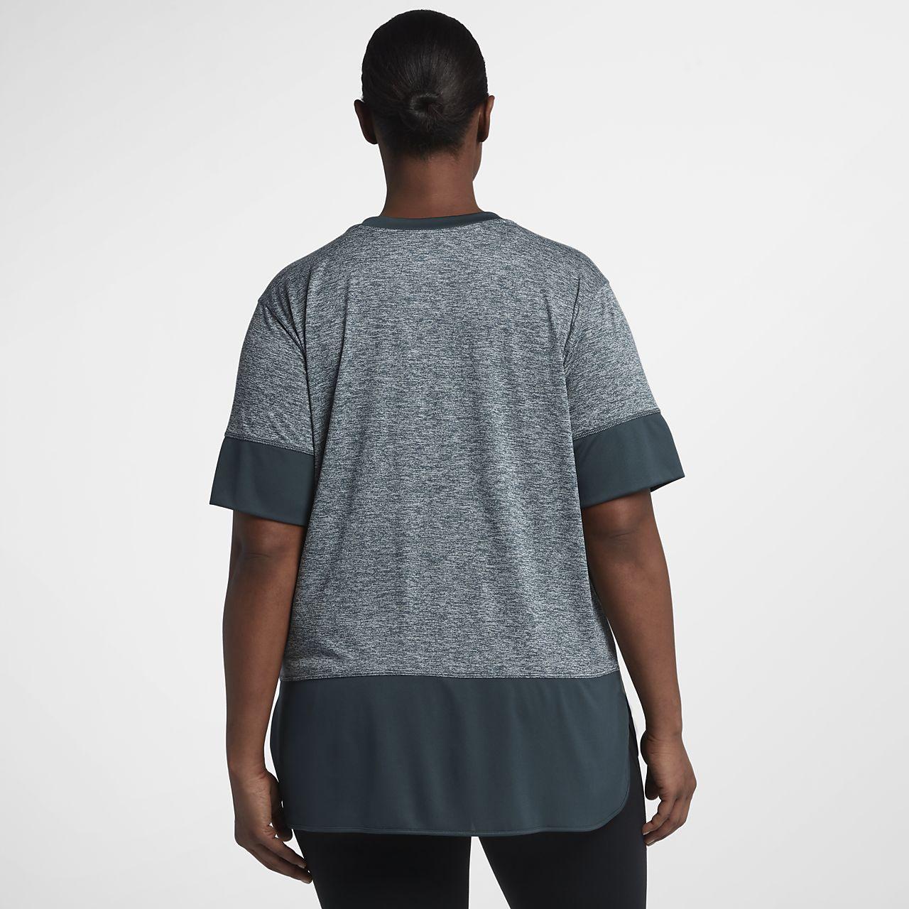 ... Nike Dri-FIT Studio (Plus Size) Women's Short Sleeve Training Top