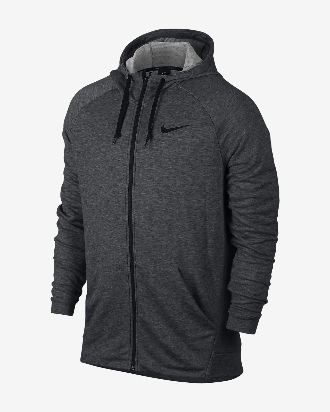 Pánská tréninková mikina s kapucí a zipem v plné délce Nike Dri-FIT