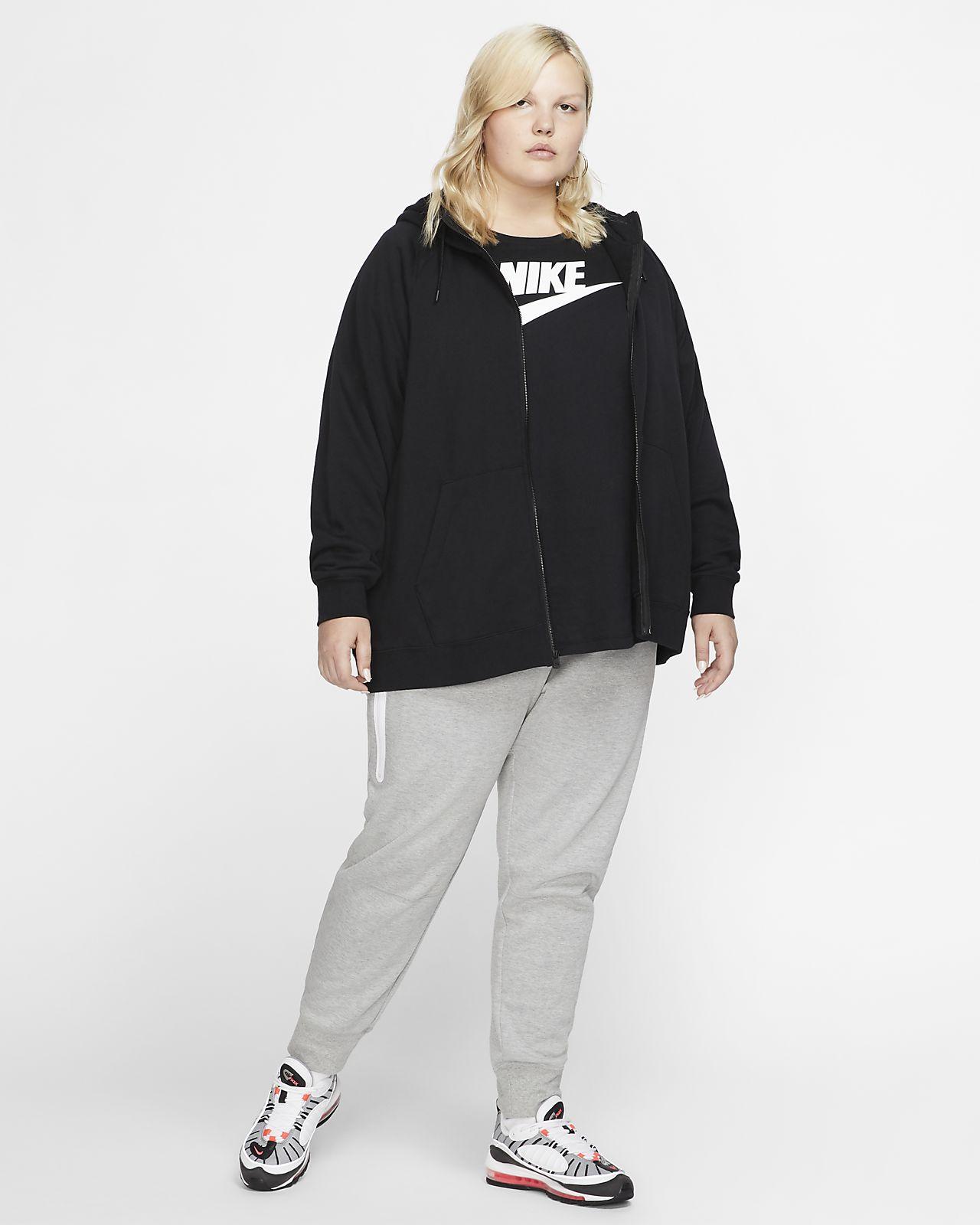 Nike Sportswear Essential Sudadera con capucha con cremallera completa (Talla grande) Mujer