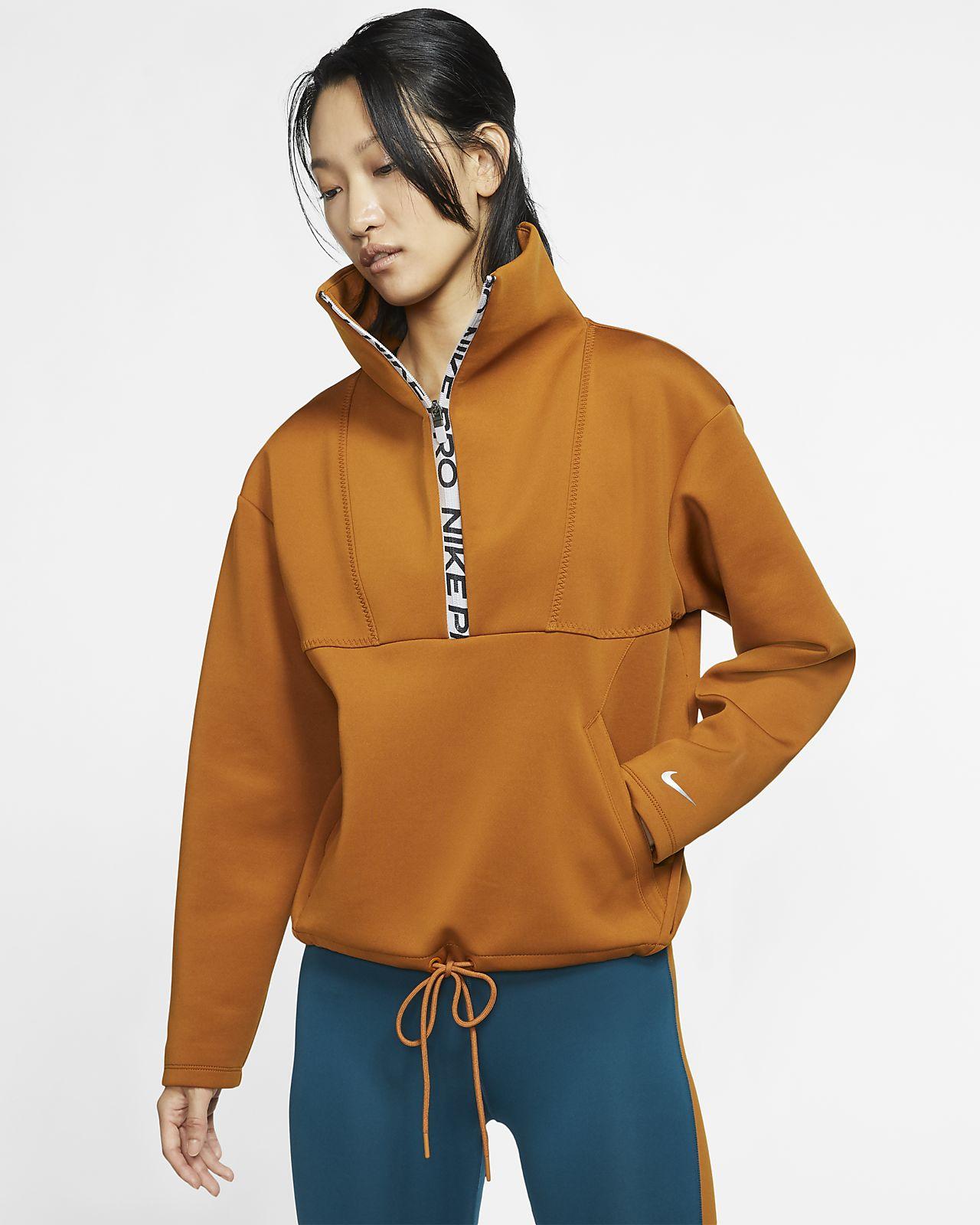 Γυναικεία φλις μπλούζα σε κοντό μήκος Nike Pro