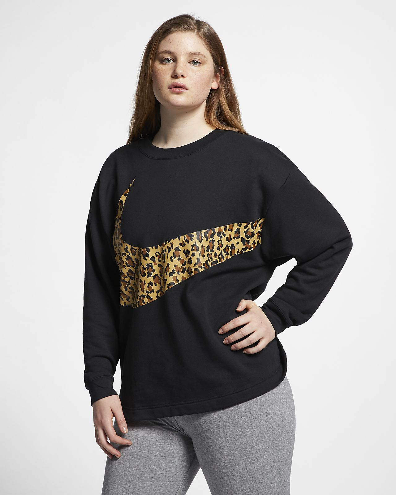 Maglia animalier a girocollo Nike Sportswear - Donna (Plus Size)