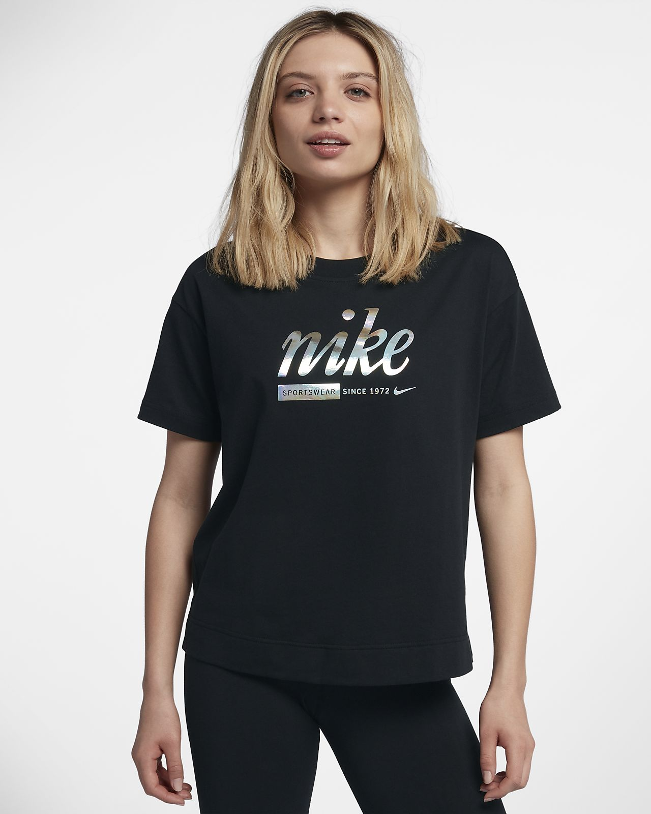 nike metallic damen shirt