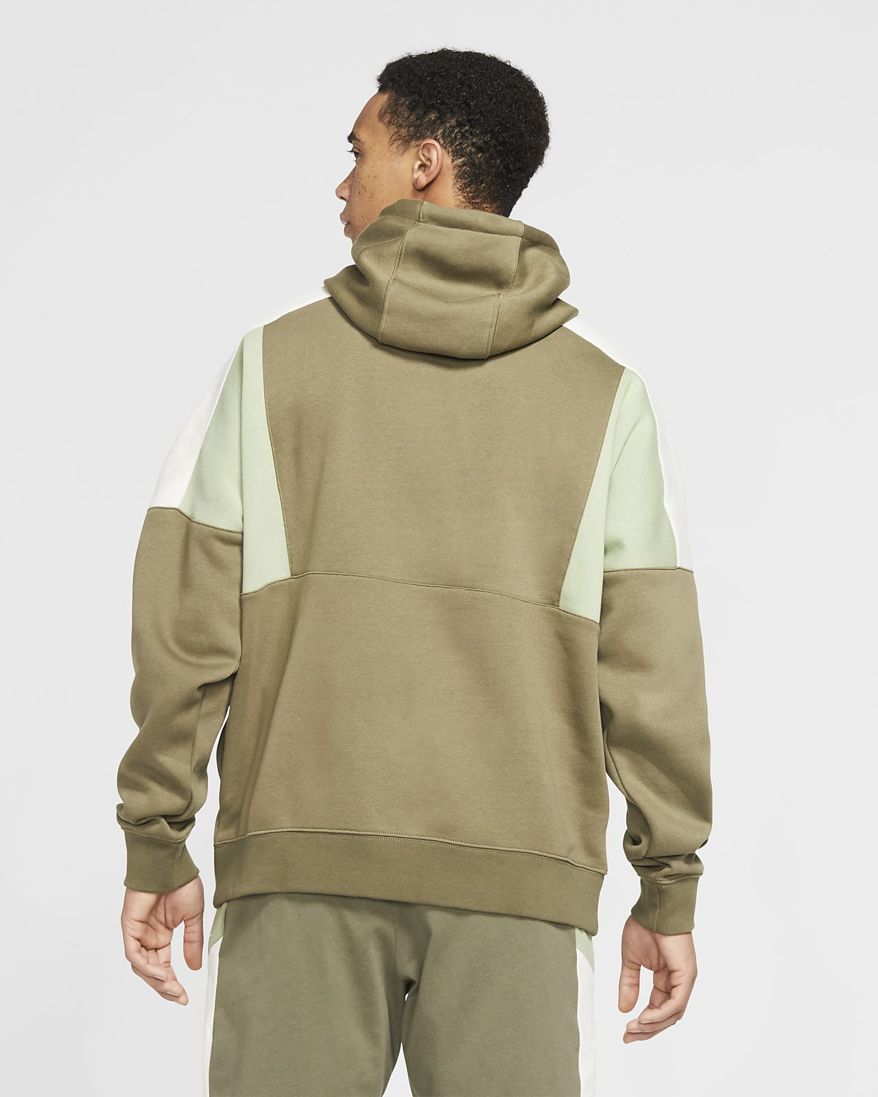 Nike Sportswear Color Block Pullover Hoodie (Midnight Navy