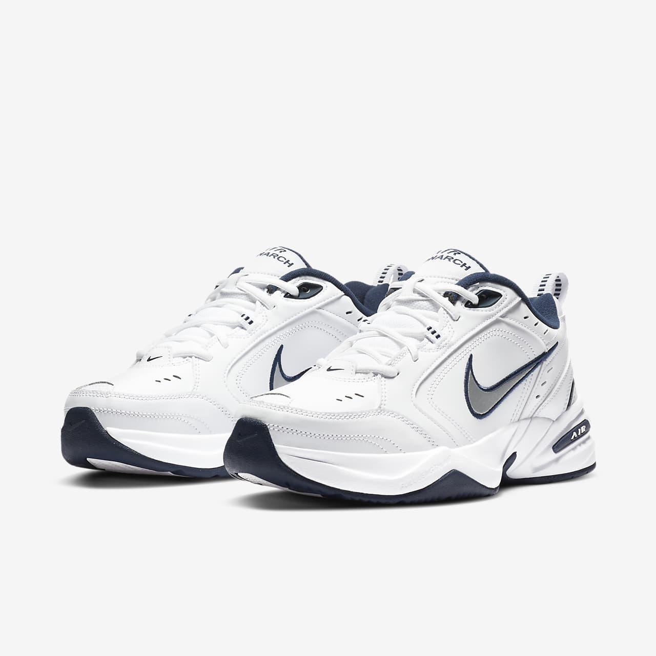 Nike Air Monarch Iv, Chaussures de Gymnastique Homme, Blanc (White/Metallic Silver 102), 44 EU