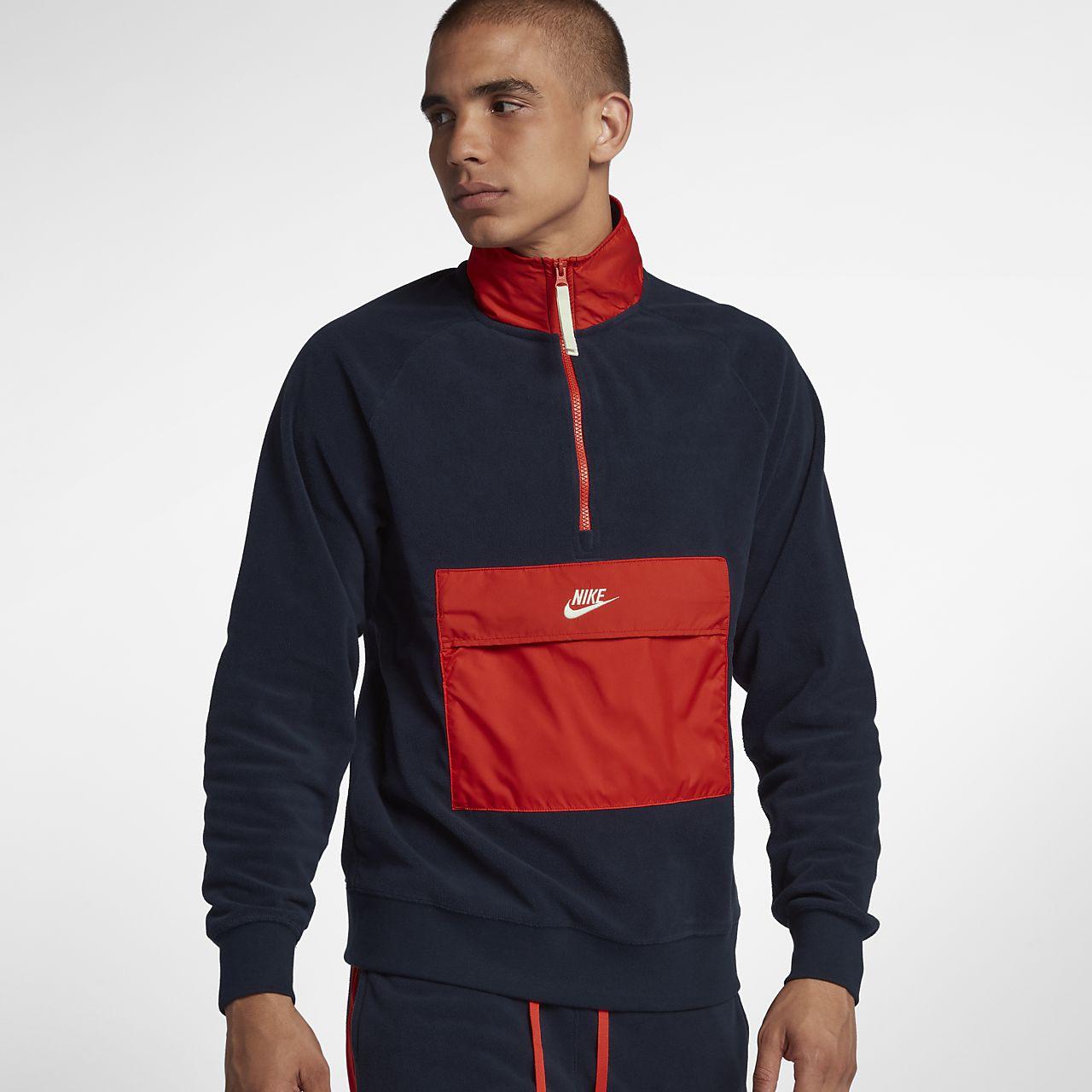 Męska koszulka z zamkiem 1/2 Nike Sportswear