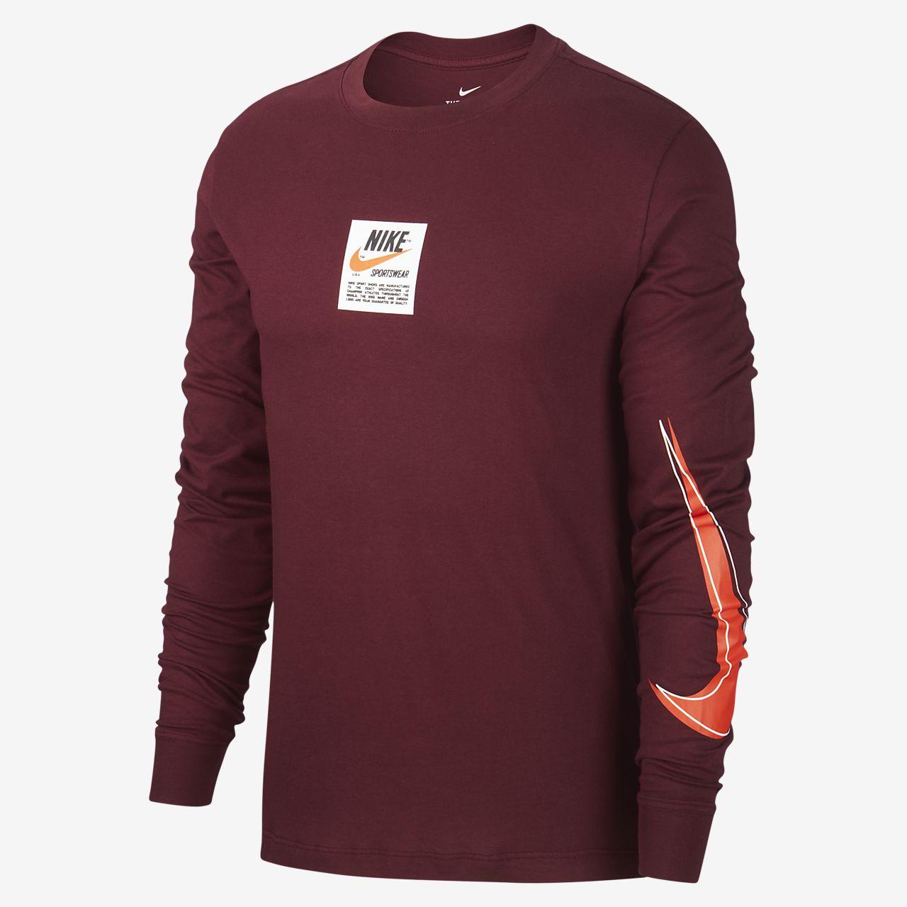 Nike Sportswear Langarm Oberteil mit Print für Herren