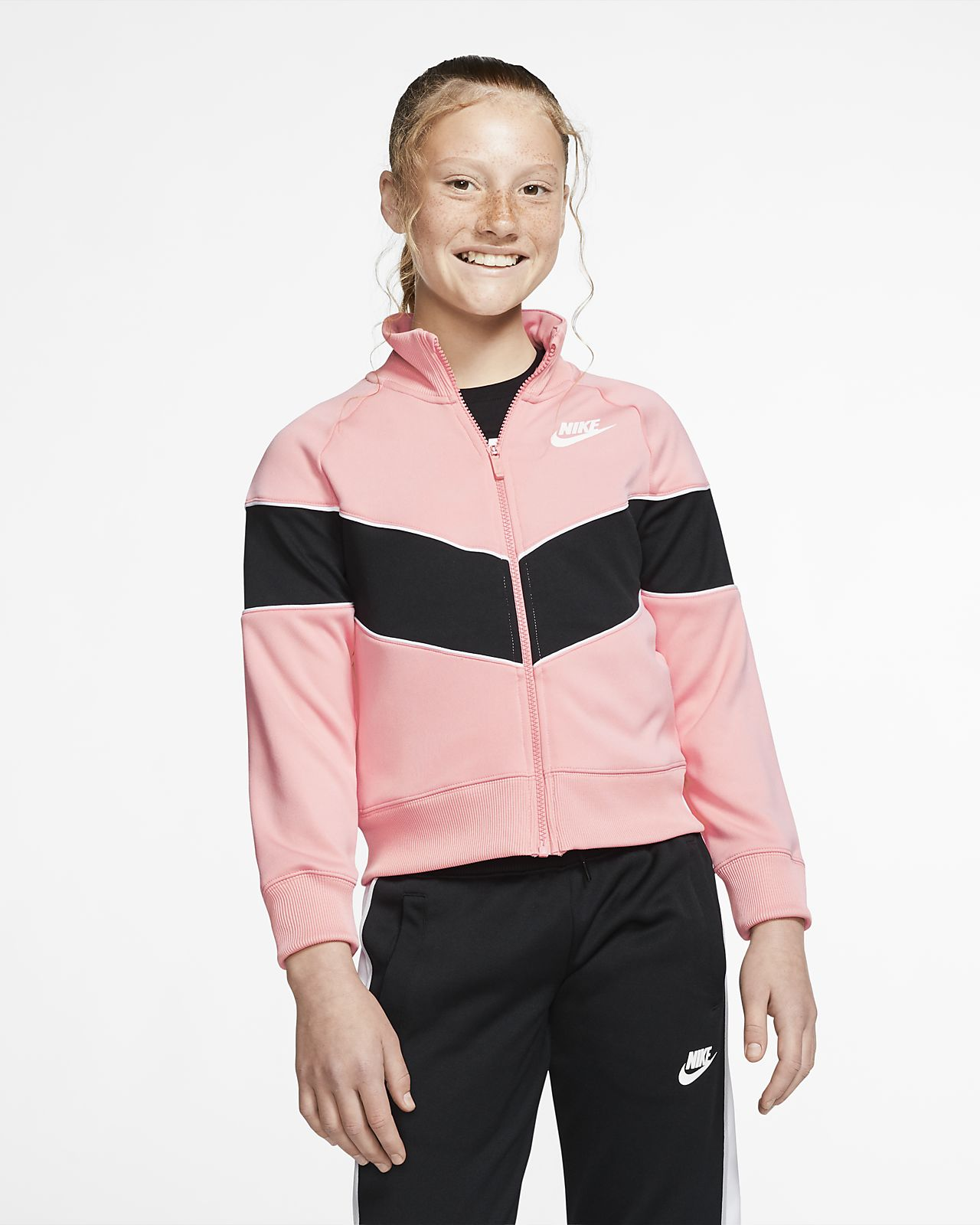 Nike Sportswear Heritage jakke med hel glidelås til store barn (jente)