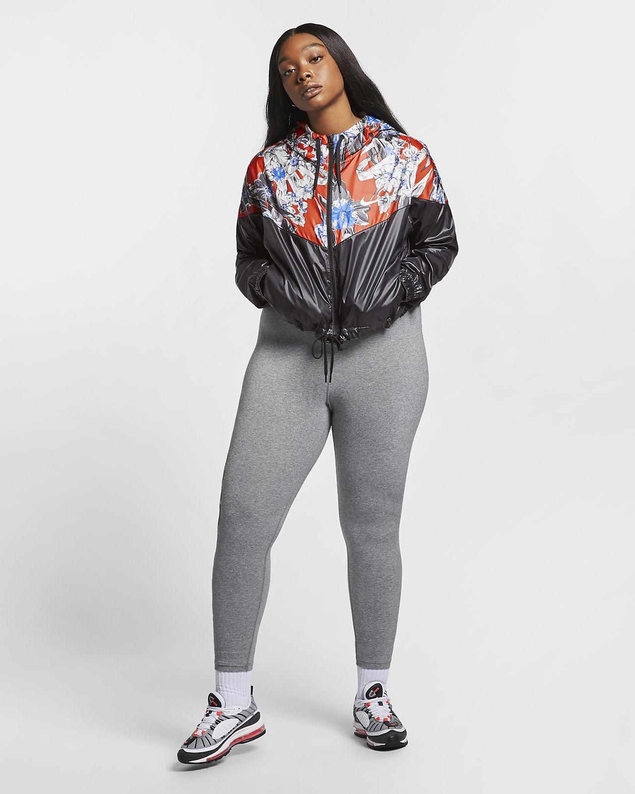 new styles 7418c ccb59 ... Kort jacka Nike Sportswear Windrunner med blommönster för kvinnor (stora  storlekar)