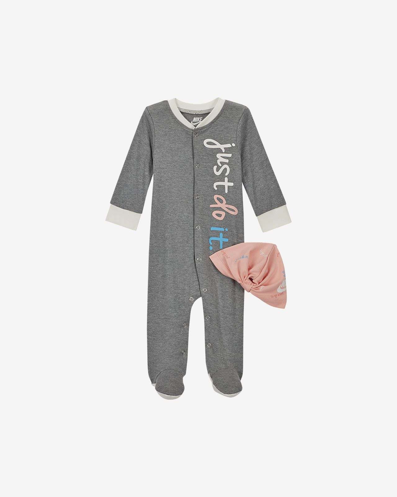 Nike Baby (0-9M) Coverall and Hat Set