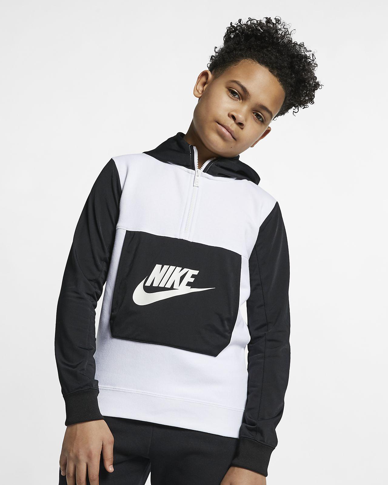 Sweat à capuche et demi-zip Nike Sportswear pour Garçon plus âgé