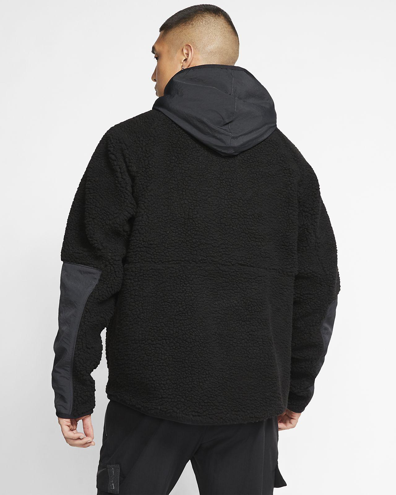 1/2 zip sherpa nike hoodie