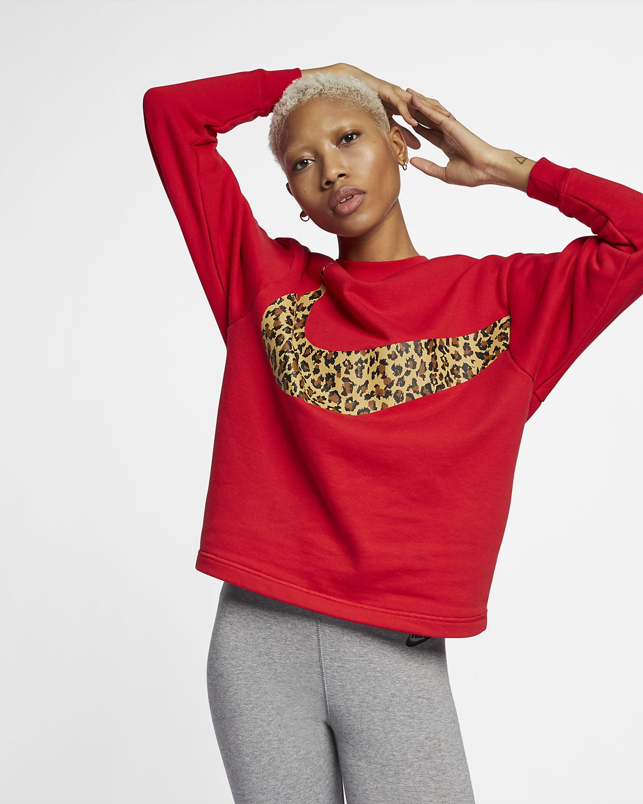 Nike Sportswear Damesshirt met dierenprint en ronde hals