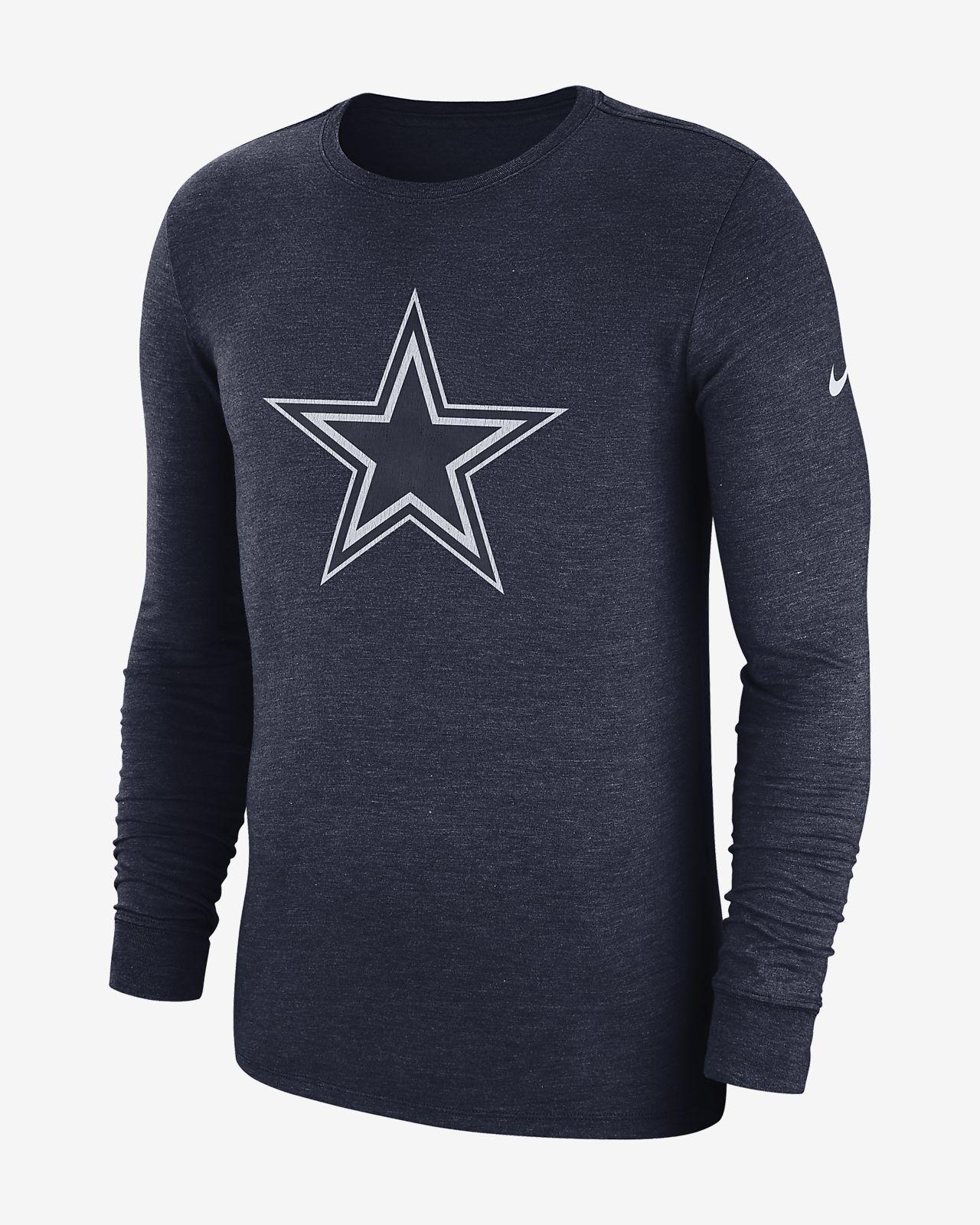 Nike Historic (NFL Cowboys) Men s Long Sleeve Tri-Blend T-Shirt ... a7dd79e757d