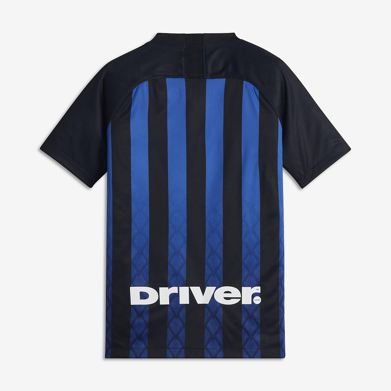 46c7ce507e67 2018 19 Inter Milan Stadium Home Older Kids  Football Shirt. Nike.com AU