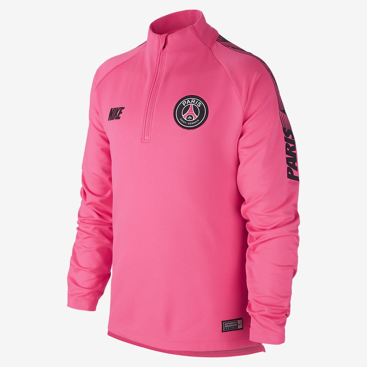 Футболка для футбольного тренинга для школьников Nike Dri-FIT Paris Saint-Germain Squad