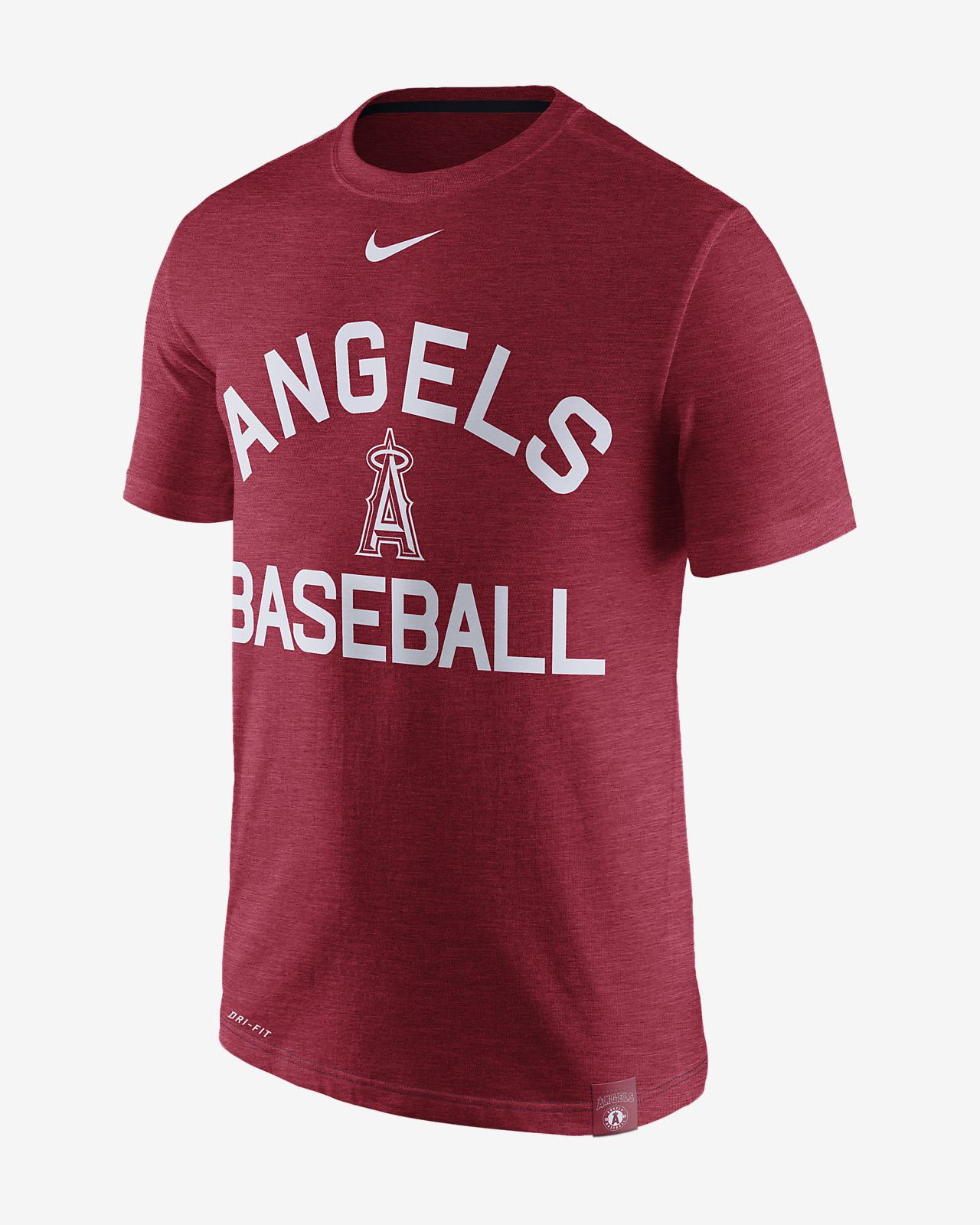 Nike Dri Fit Arch Logo Mlb Angels Mens T Shirt Nikecom