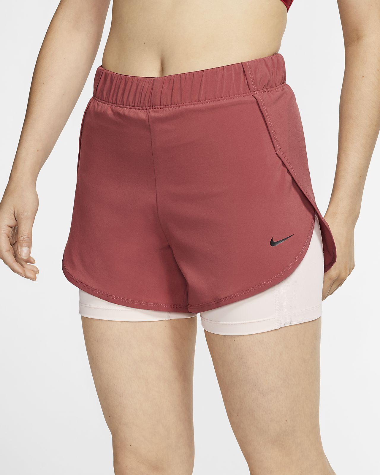Shorts de entrenamiento 2 en 1 para mujer Nike Flex