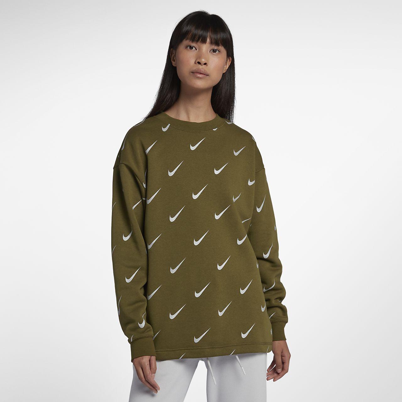 Damska bluza z metalicznym połyskiem Nike Sportswear Rally Print
