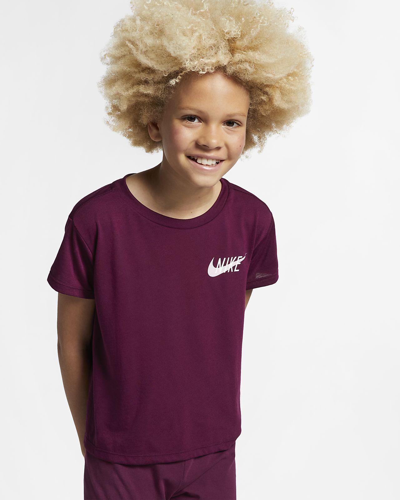 Kortärmad träningströja Nike Dri-FIT för tjejer