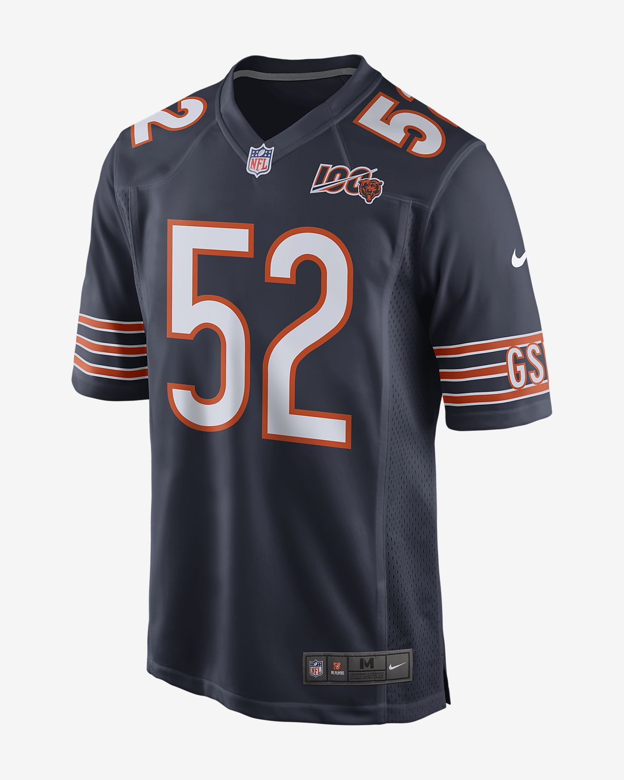 quite nice 3e787 cc820 NFL Chicago Bears (Khalil Mack) Men's Game Football Jersey