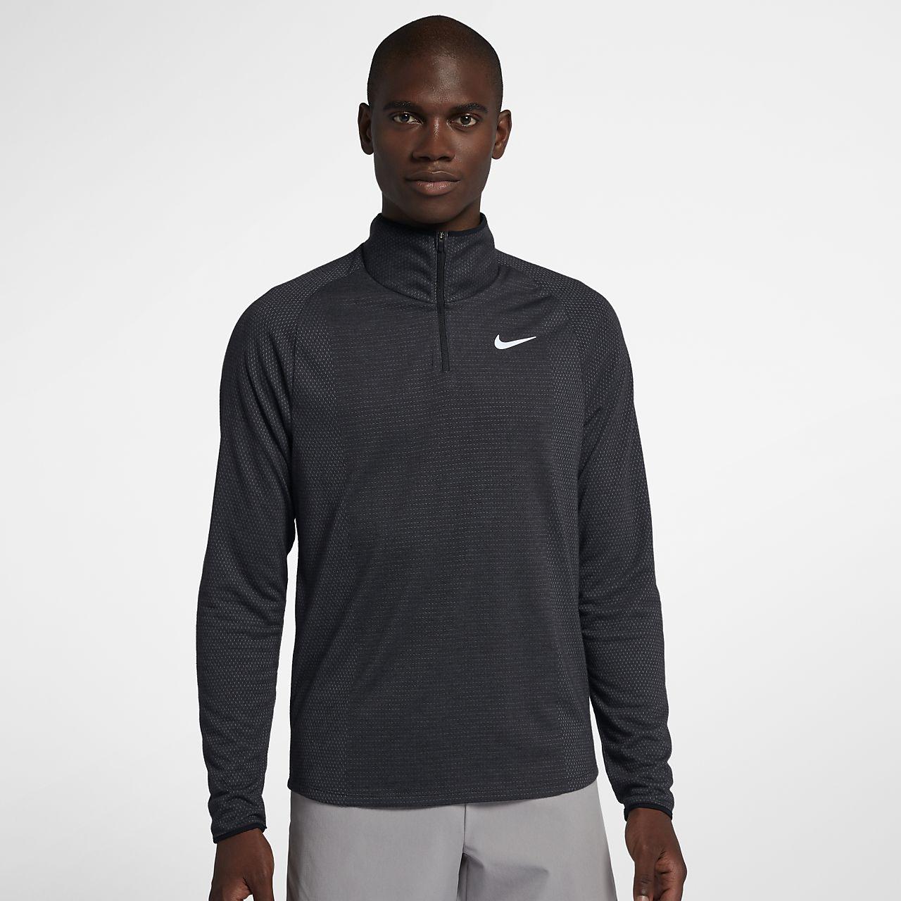 Top de tenis con medio cierre para hombre NikeCourt Dri-FIT Challenger