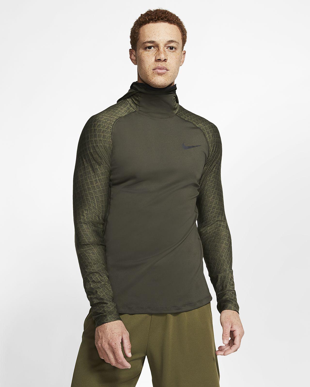 Langærmet Nike Therma-træningshættetrøje til mænd